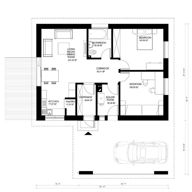 Planos De Casas 64 Metros Cuadrados Acolor