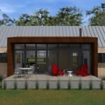 Diseños de casas campestres abiertas y con ventanales grandes