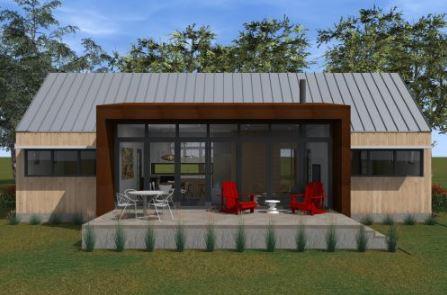 Diseños de casas campestres con ventanales grandes