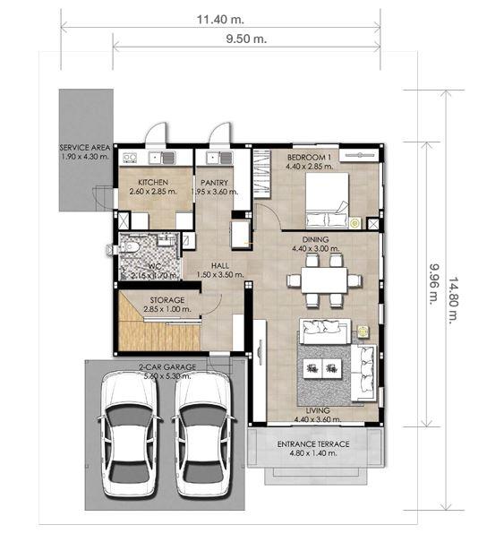 planos de casas modernas en 150 m