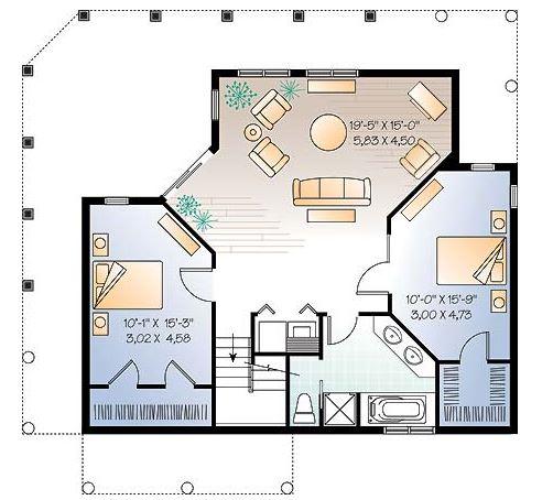 Planos de casas con galerias alrededor