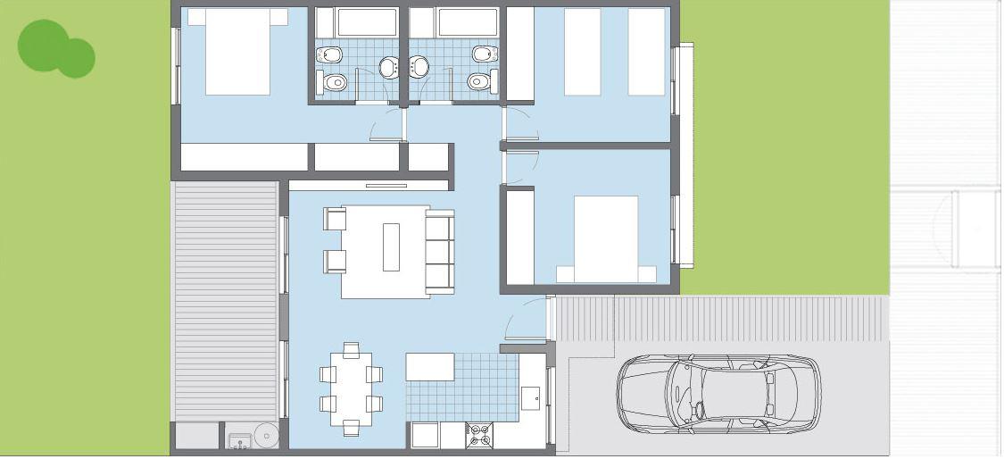 planos de casas normales