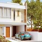 Planos de casas largas de dos pisos con medidas en metros