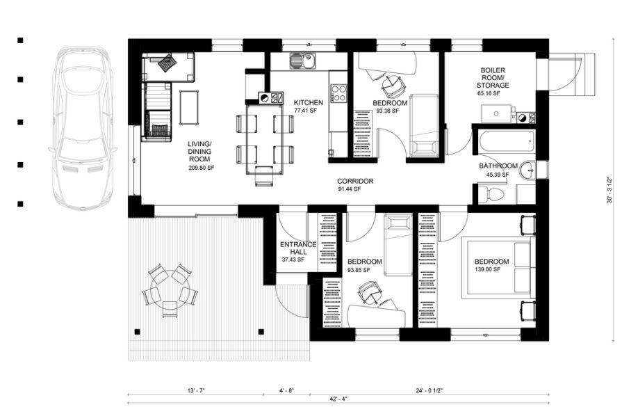 115 metros cuadrados casa