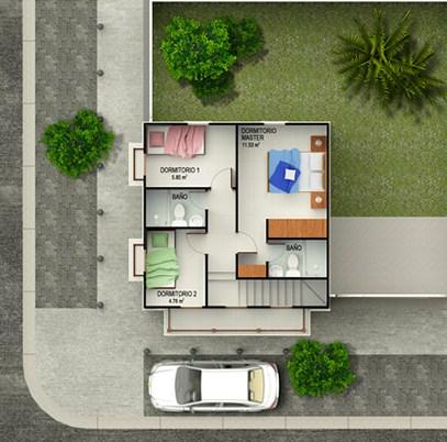 Casas de 2 pisos chiquitas y bonitas