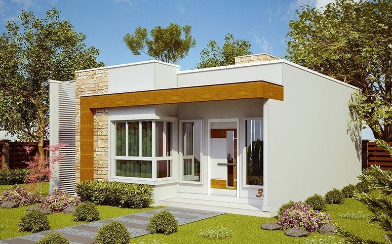 Planos de casas de una sola planta en mexico bonitas Fachadas de casas bonitas de una planta