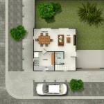 Diferentes casas de 2 pisos chiquitas y bonitas