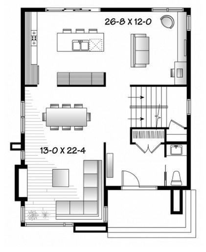 Diferentes casas de 2 pisos chiquitas