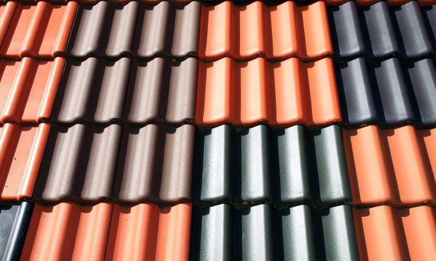 Diseño de tejas bonitas de colores