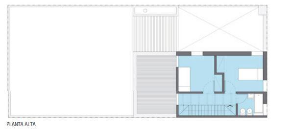 Duplex 4 m de frente y 6 m de largo