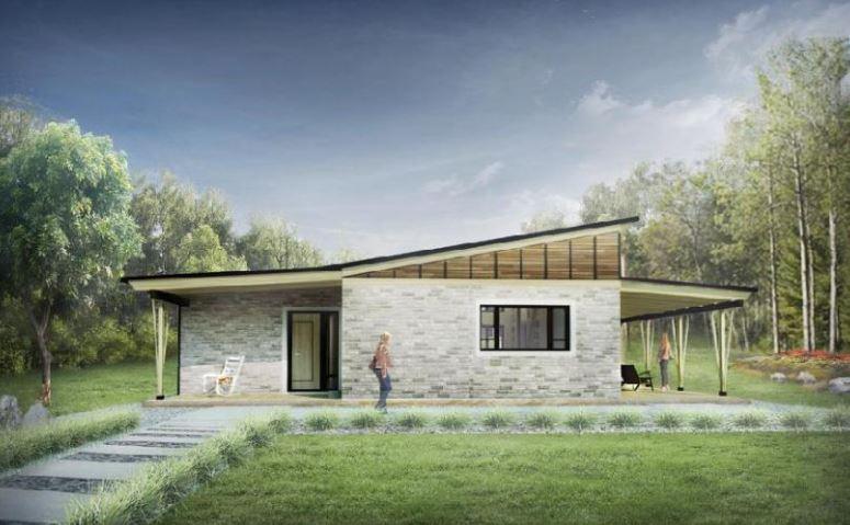 Fachadas de casas modernas de 72m2