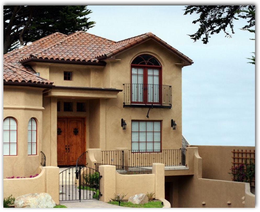 Fotos de casas de dos niveles moderna con fachada de teja for Modelos de techos para casas de dos pisos