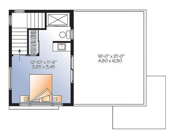 Plano de casa con dos pisos