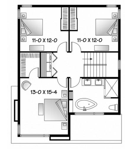 Planos de casas de 2 pisos chiquitas y bonitas