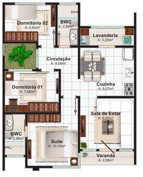 Planos de casas de una sola planta en Mexico