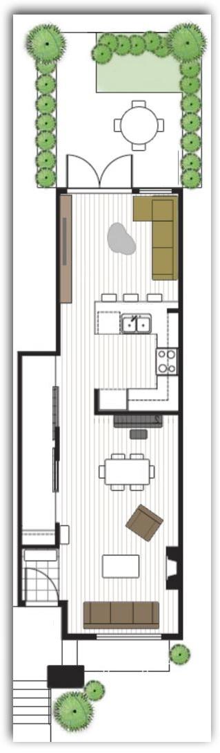 Planos para town house de 8 x 6