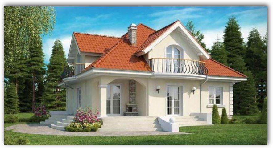 casas de dos niveles moderna con fachada de teja
