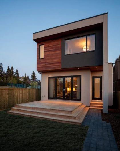Casas pequeñas de dos pisos dentro y fuera