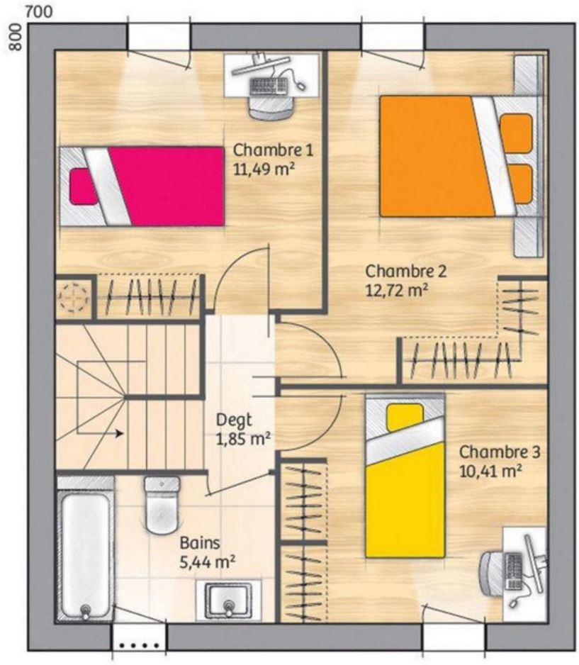 Plano de casas en México fotos de tabiques y planos