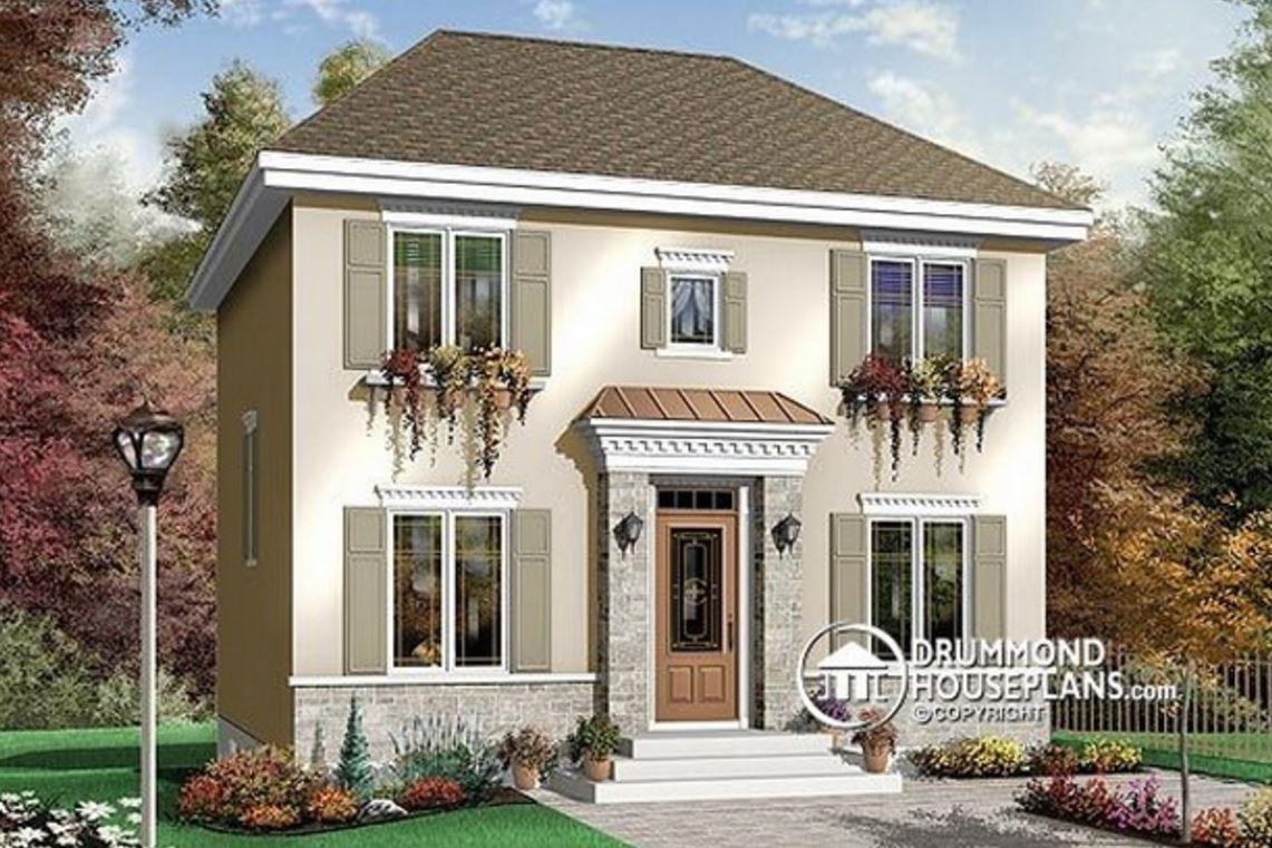 casas sencillas para construir en dos pisos