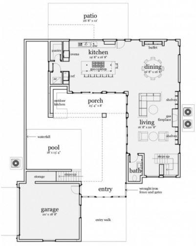 15 x 30mts diseño para casa