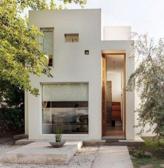 Casas mediterraneas de 2 pisos angostas fotos