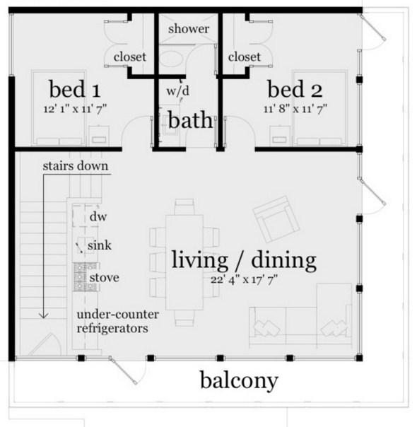 Diseños de casas de dos pisos que abajo quede libre