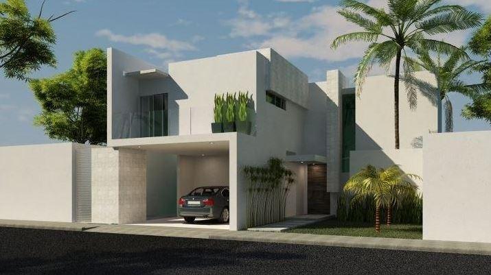 Fachadas de casas de dos plantas con losa