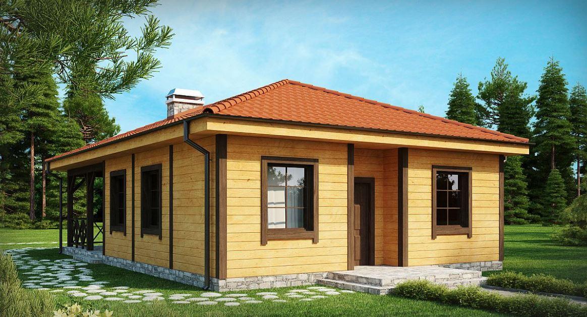 Modelo de casa de un piso de 64 m2