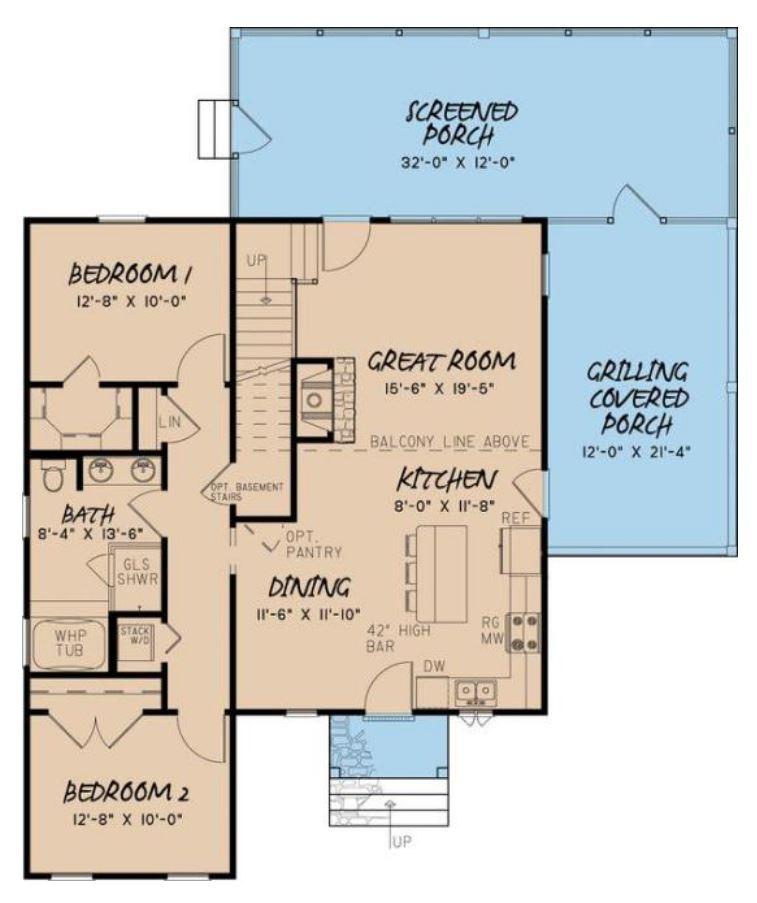 Plano de casa sin pasillo 144 metros cuadrados 3 dormitorios