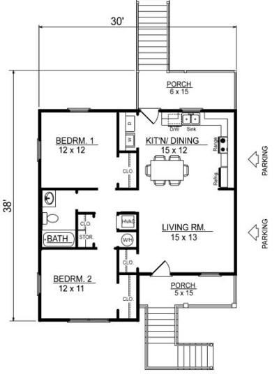 Planos de casas de dos pisos que abajo quede libre
