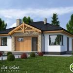 Planos de casas pequeñas de una planta con 3 habitaciones