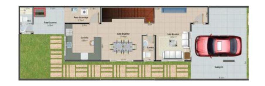 Planos de casas tres recamaras tres baños sala cocina comedor cortinas