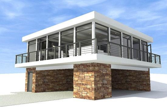 Ver modelos de casas de dos pisos que abajo quede libre