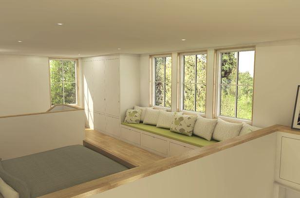 Planos de casas rectangulares peque as for Casa moderna 4 ambientes