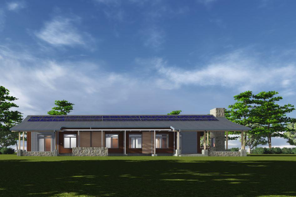 Planos de casas modernas con corredor alrededor for Modelos de casas campestres modernas