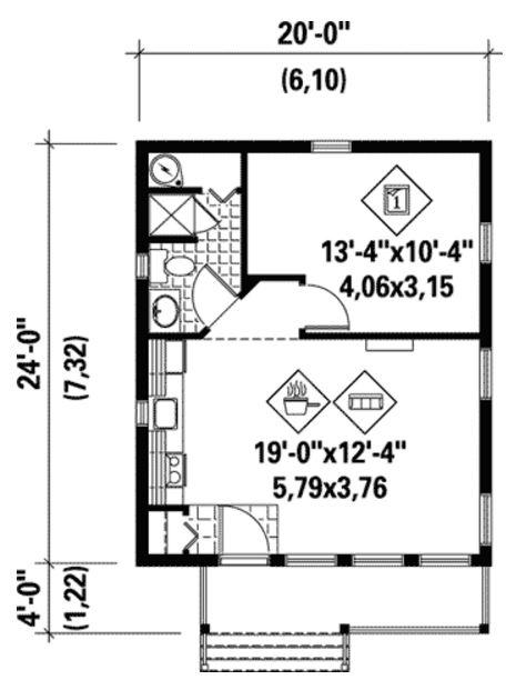 Modelo de casa de 45 metros cuadrados