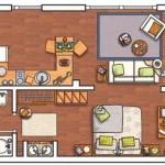 Plano casas de 2 pisos 40 m