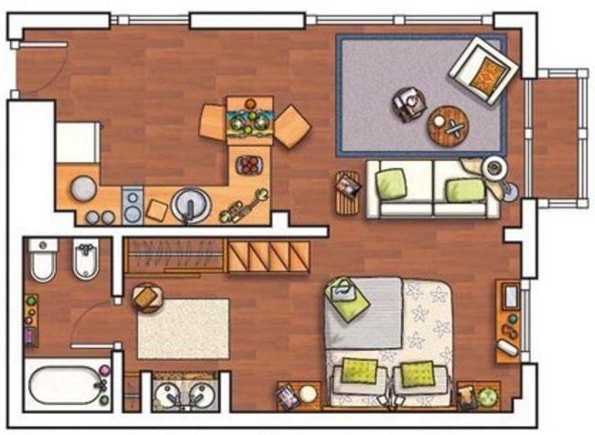 Plano casas de 2 pisos 40 m for Plano casa un piso