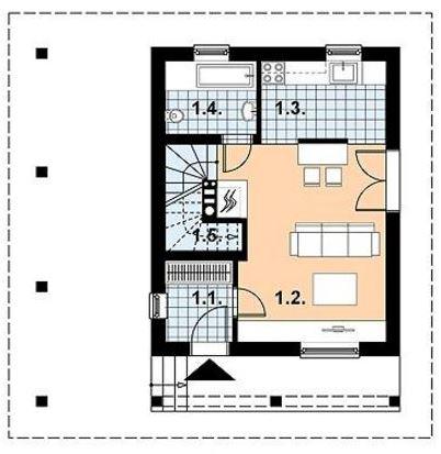 Planos de casa de 72m2 3 dormitorios