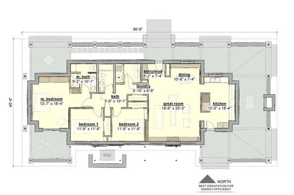 Planos de casas modernas con corredor alrededor - Orientacion de un piso ...