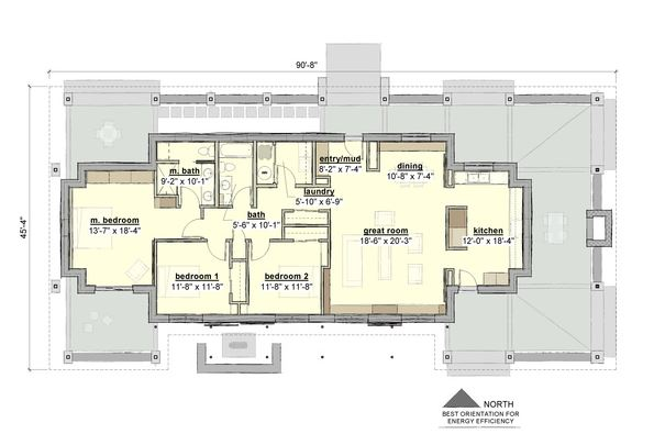 Planos de casas con corredor alrededor