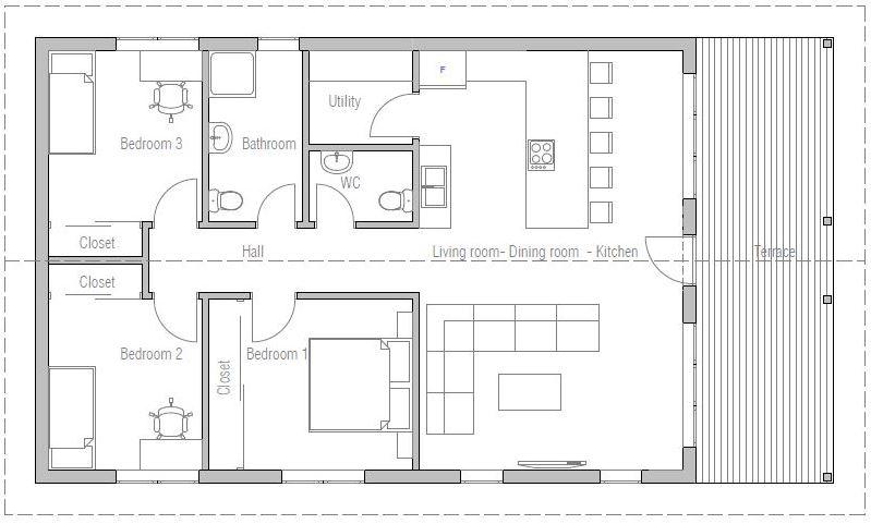 planos de casas 110 metros cuadrados