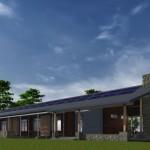 Planos de casas modernas con corredor alrededor