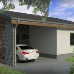 Plano de una casa de la mision vivienda de 72m2