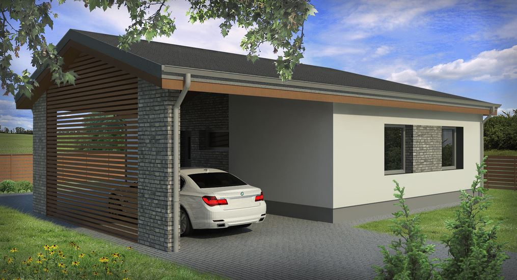 Plano de una casa de 72m2