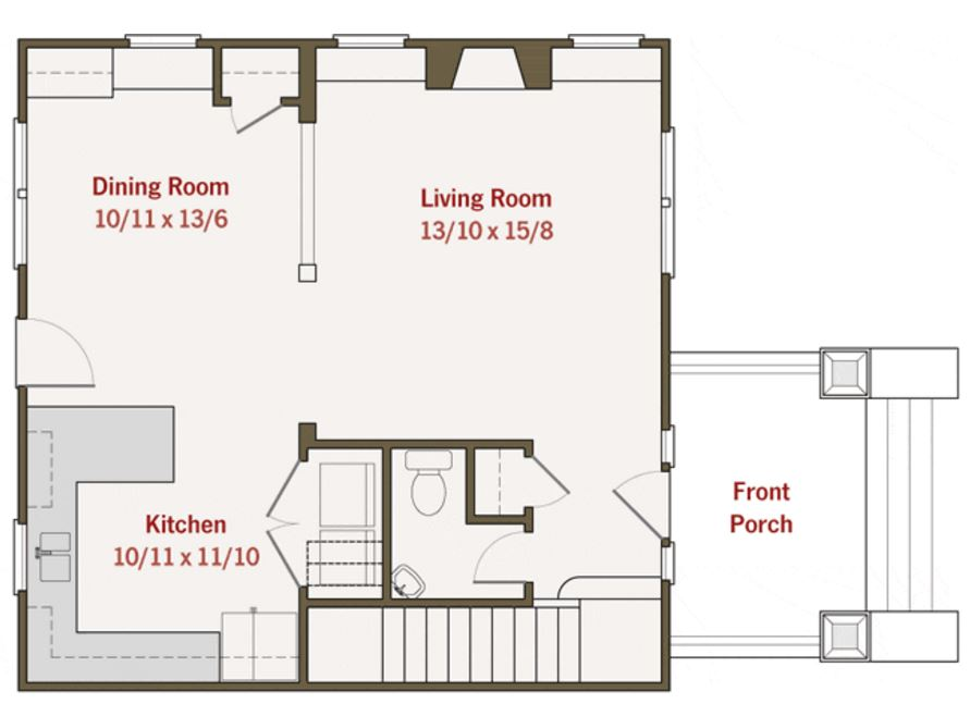 Planos de casas de 2 plantas de 60 m2
