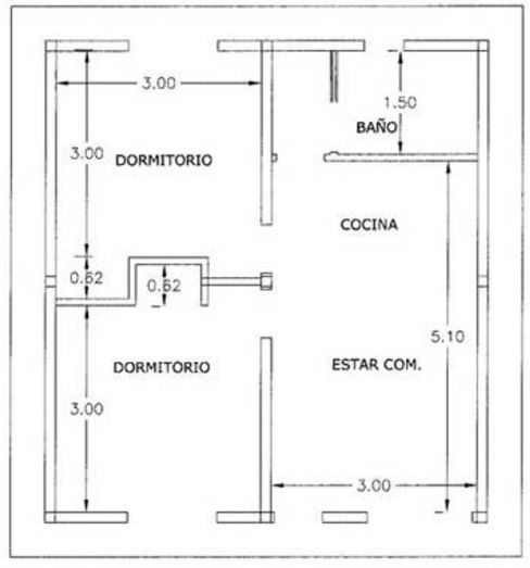 Planos de casas de 2 plantas de 60 metros cuadrados for Planos de casas de 2 plantas