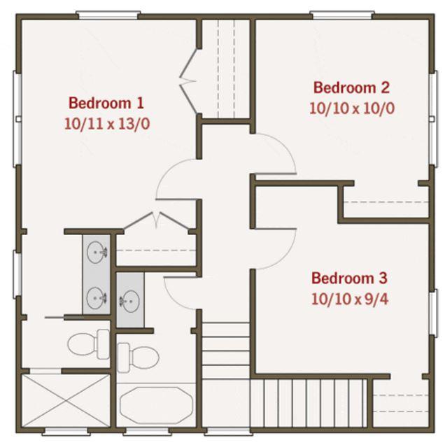 Planos de chalets de dos plantas plano de casa moderna de for Piso 60 metros cuadrados 3 habitaciones