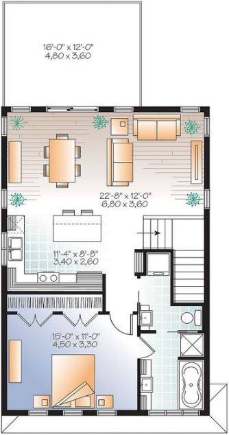 planos de casas de dos plantas pequeñas gratis